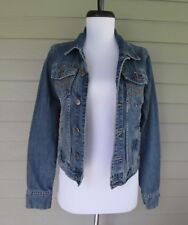 Aeropostale Womens Denim Distressed Boho Blue Jean Jacket  S