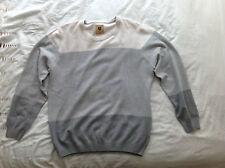 Para Hombre Grande Beige/Gris Haggar Heritage Collection Suéter/Jersey de cuello redondo