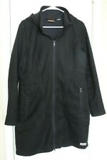 Merrell Selectregulate Waterproof Coat Womens Black Hooded Long Jacket Sz L