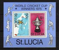 15578) St.Lucia 1975 MNH New World Cricket Cup - S/S