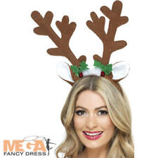 Reindeer Antlers Adult Unisex Smiffys Fancy Dress Costume Accessory Christmas