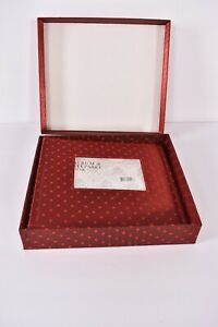 """Photo Album Keepsake Box  Hold's 160 4x6"""" or 5.5"""" x 5"""" Pictures 150 Red  2007"""
