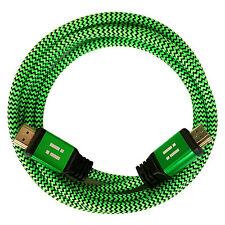 i!® 20m Premium Nylon High Speed HDMI 2.0 Kabel 3D/4K/UHD/FullHD/Ethernet grün