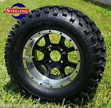 """GOLF CART 12"""" GHOST ALUMINUM WHEELS/RIMS and 23""""x10.5""""-12"""" AT TIRES (SET OF 4)"""