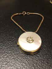 New ListingRare Vintage Harriet Hubbard Ayer Round Jeweled Gold-Tone Compact Bracelet