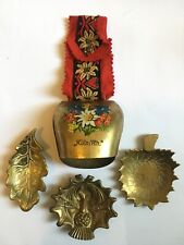 Vintage Metal Brass Bell Leafs Bonnie Scotland
