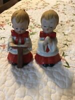 Vintage 2 HOMCO MADE IN TAIWAN Christmas Choir Boys/Children Figurines Lot Set