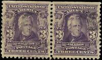 VEGAS - 1903 USA Sc# 302 - Used Pair - Very Fine+ - Light Cancel - (FA11)