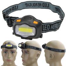 12 COB LED Headlight Fishing Camping Hunting Outdoor Lighting Head Lamp Headband
