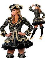 Piratin Karneval Fasching Pirat Damen Kostüm Piraten Karnevalskostüm Gr. S/M