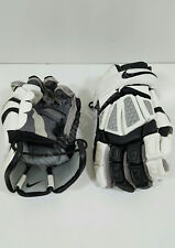 "Nike Ge Hurf 12 Bk/Xx Huarache Lacrosse Gloves Medium 12"" Black Gray/Grey White"
