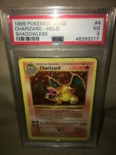 Pokemon Shadowless Charizard Holo PSA 3! Base Set 4/102