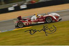 Tom Kristensen Hand Signed Audi Sport 12x8 Photo Le Mans 1.