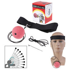 Fight Ball Reflex Boxing REACT Training Boxer Speed Punch Head Cap String Bal TL