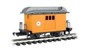 BACHMANN G SCALE 97096 Lil Big Hauler Short Line Railroad Yellow BAGGAGE Car