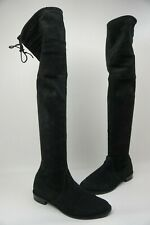 Stuart Weitzman Lowland Over the Knee Suede Boots Black Size 8 M