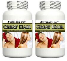 2x Hair Growth Support Tablets Thicker Stronger Hair Thinning Splits Baldness