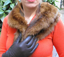 mint/russian barguzin sable, zobel, zibelline wrap collar/lined/freesize