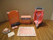Zapf creation Baby Born mini Lot #2 w/armoir, dresser stroller, rug & other acc