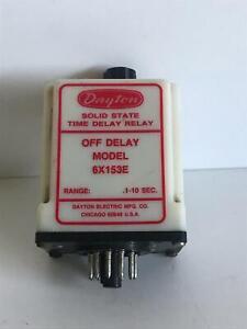 Dayton Time Delay Relay 6X153E
