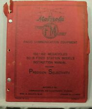 Motorola Radio Communication Equipment vintage old catalog