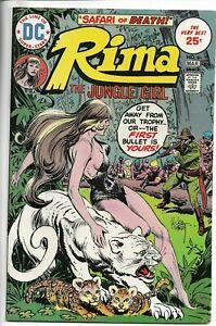 RIMA The Jungle Girl #6 DC Comics JOE KUBERT GGA Evel Knievel COLOR BC 1975 VF