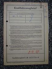 Ford Transit 1250/P3  55 PS 1,5 Ltr 1962 8-Sitzer Erstbesitz Datenblatt Brief XX