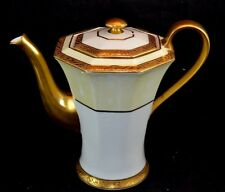 Theodore Haviland Limoges Chocolate Coffee Pot Thick Gold  Fleur Thick Gold