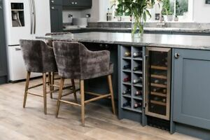 BREAKFAST BAR STOOLS WITH ARMS CHENILLE DINING STOOLS TWO HEIGHTS