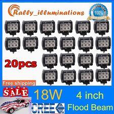 20X 4inch 18W CREE FLOOD LED LIGHT BAR WORK LAMP OFFROAD BOAT UTE CAR TRUCK SALE