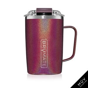 BRUMATE TODDY Mug 16 oz Leak proof Locking Lid hot or cool - GLITTER MERLOT