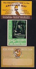 US Vintage Insurance Co Cinderella Stamps Voluntary Health & Burglary (L98)
