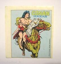 VECCHIO ADESIVO ORIGINALE / Old Sticker CONAN KAZAR MARVEL Corno (cm 10 x 12)
