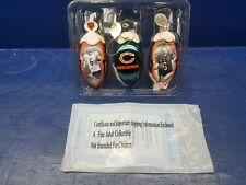 Chicago Bears Bradford Exchang metal Bell Ornaments