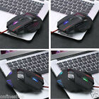 HOT 5500 DPI 7D LED Optical USB Wired PRO Gaming Game Mouse Mice For PC Laptop