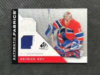 2007-08 UPPER DECK SP GAME USED PATRICK ROY AUTHENTIC FABRICS DUAL JERSEY #AF-PR