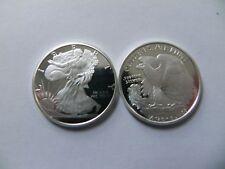 2 - 1/4 oz. 999 Fine Silver Rounds -- Walking Liberty Design - BU - New