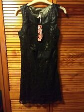 Bnwt Sweewe Black Lace And Leather Dress