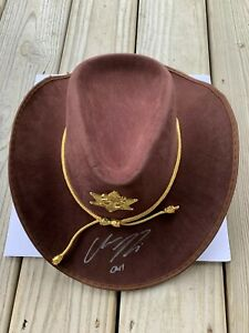 CHANDLER RIGGS SIGNED CARL WALKING DEAD SHERIFF HAT FS AUTOGRAPHED EXACT PROOF