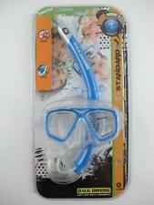 Aqua Lung NEW Kids Youth Ages 7-12 Snorkeling Set Blue Swim Mask & Snorkel JR