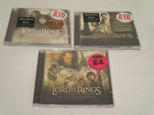 Lord Of The Rings 3* CDs Film Soundtrack Score Howard Shore