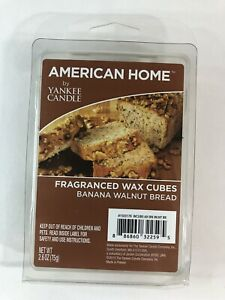 American Home by Yankee Candle Banana Walnut Bread Pack of 6 Wax Cubes