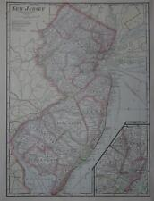 1911 New Jersey Antique Color Atlas Map* 105 years-old!