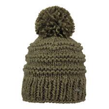 Barts Damen warme Mütze Jasmin Beanie Winter Bommel Fleece Inside Army (oliv)