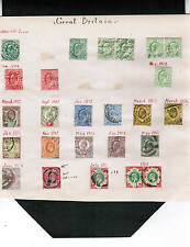 GREAT BRITAIN 1902-1911  PAGE  K EDWARD etc  used cat $500.00++  GB