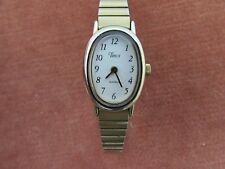 Vintage Ladies Timex Quartz Wristwatch Stretch Bracelet Strap