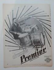 Publicité advert advertising KENNY CLARKE 1971 pub BATTERIE DRUMS PREMIER