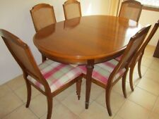 BEAUTIFUL 9-PIECE WALNUT DINING SUITE IN EXCELLENT CONDITION