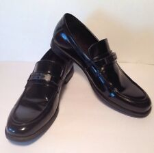 CALVIN KLEIN Men's Size 11M  Armond Smooth Black Leather Loafers Shoes 34F0571