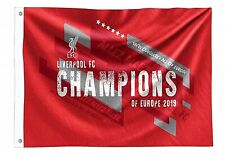 Liverpool FC Champions of Europe 2019 Flag 1520mm x 910mm (bst)